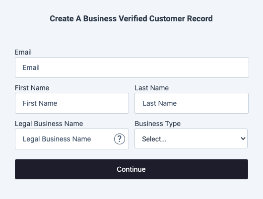 Create a Personal Verified Customer Drop-in Component