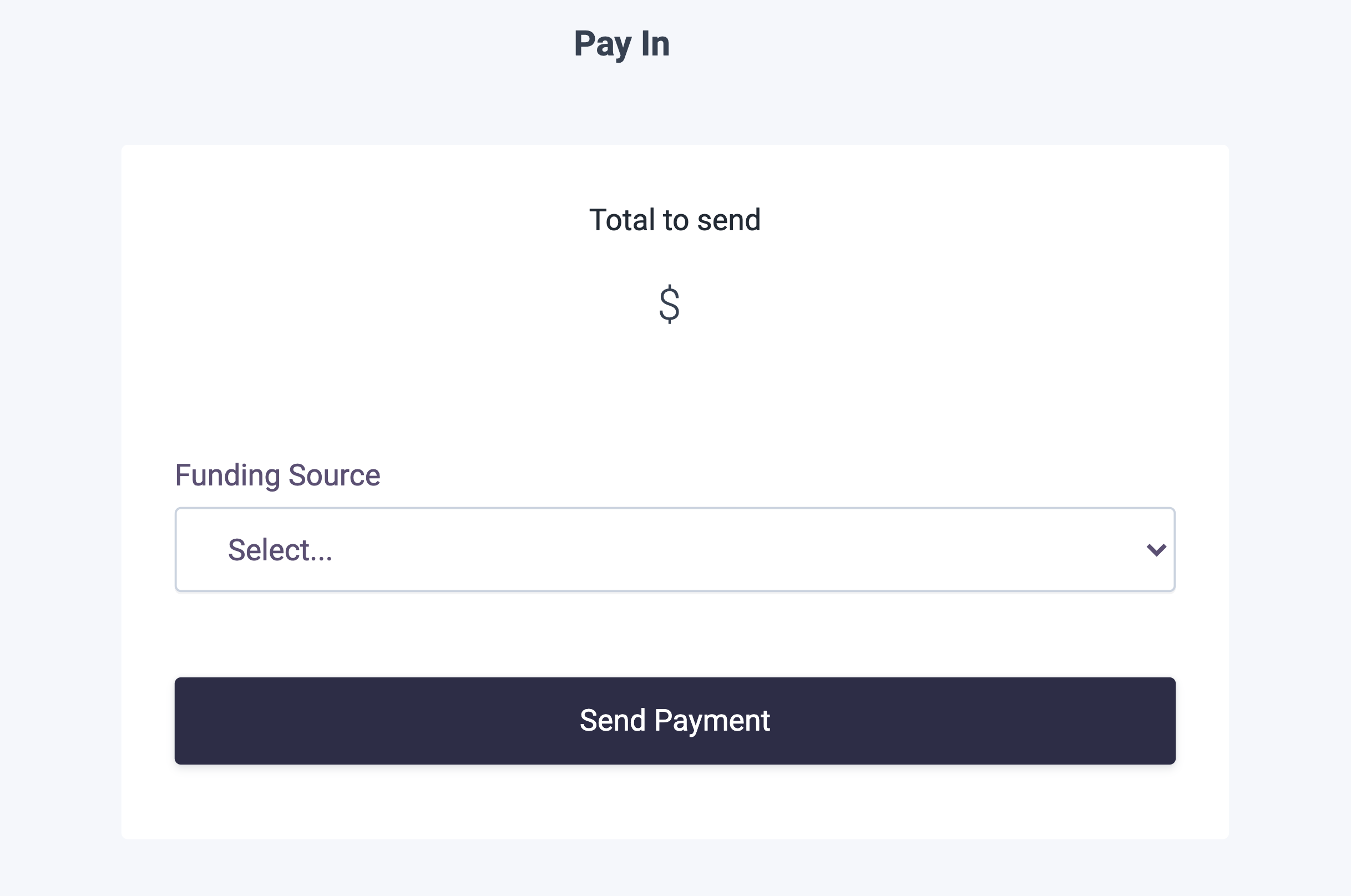 Pay In Drop-in Component